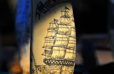 Scrimshaw Photograph - A Sailors Art by David Lee Thompson