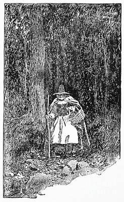 A Salem Witch, 1692 Print by Granger