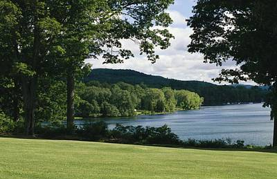 A Scenic View Of Otsego Lake Print by Raymond Gehman