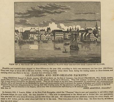 A Ship Of Slaves In 1836 Leaving Print by Everett
