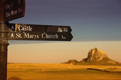 Directional Signage Photograph - A Sign Post Pointing To A Castle And by John Short