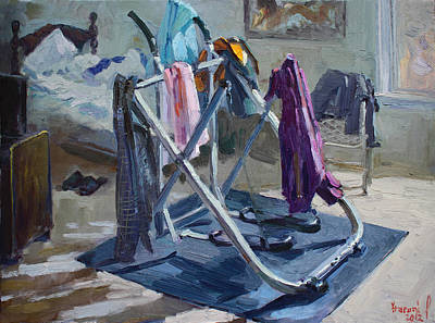 Freestyle Painting - A Single Guy Bedroom  by Ylli Haruni