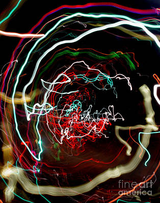 Abstract Digital Light Trails Photograph - A Skewed Life Ahead by Peter Piatt