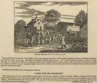 A Slave Coffle Setting Print by Everett