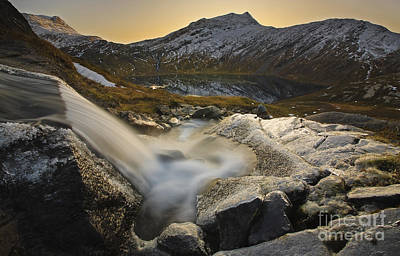 Sunset In Norway Photograph - A Small Creek Running by Arild Heitmann