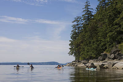 Valdes Photograph - A Small Group Of People Kayak by Taylor S. Kennedy