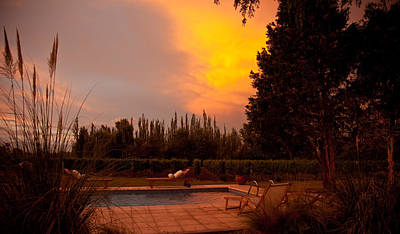 Mendoza Photograph - A Small Vineyard And Fine Hotel by Michael S. Lewis