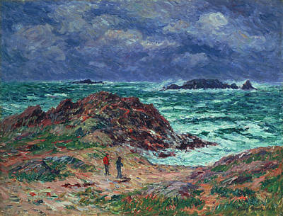 Squall Painting - A Squall by Henry Moret