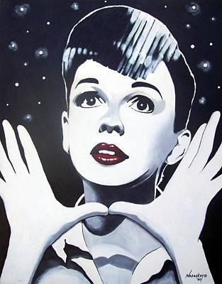 Judy Garland Painting - A Star Is Born by Lori Nadaskay