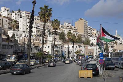 A Street Scene In Amman, Jordan Print by Taylor S. Kennedy