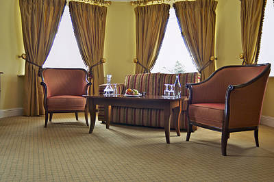A Suite In A Hotel A Lounge Print by Will Burwell