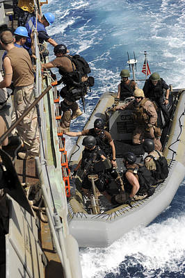 Inflatable Photograph - A Task Force Team Returns To Ship by Stocktrek Images