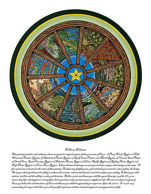 A Texas Welcome Print by MaryB  Wenzel