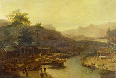 A View In China - Cultivating The Tea Plant Print by William Daniell