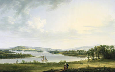 Part Of Painting - A View Of Knock Ninney And Part Of Lough Erne From Bellisle - County Fermanagh  by Thomas Roberts