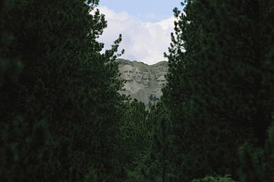 Mount Rushmore Shrine Photograph - A View Of Mount Rushmore National by Annie Griffiths
