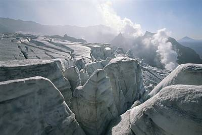 A View Of The Mudnovsky Glacier Print by Carsten Peter
