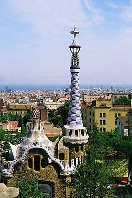 Barcelona Photograph - A View Over Barcelona From Parc Guell. by Tracy Packer Photography