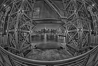 Black Photograph - A View To The Empire State Bw by Susan Candelario