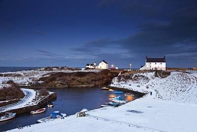 A Village On The Coast Seaton Sluice Print by John Short