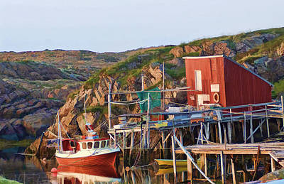 Fish Shacks Photograph - A Way Of Life by Bill Morgenstern