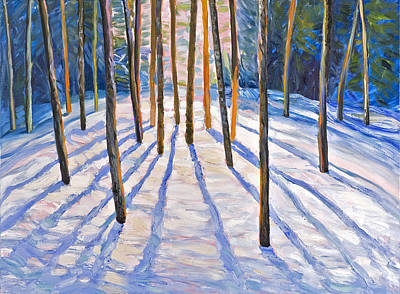 Brunch Painting - A Winter Day In The Woods by Jack Tzekov