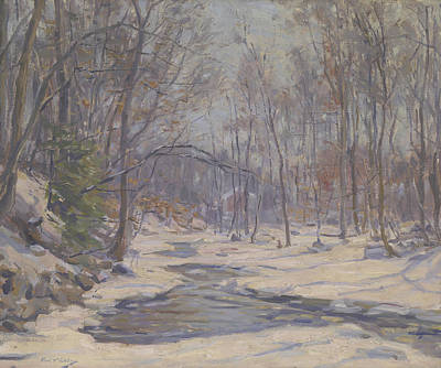 Winter Scenes Painting - A Winter Morning  by Frank Townsend Hutchens