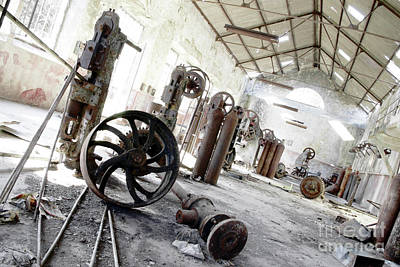 Pinion Photograph - Abandoned Factory by Carlos Caetano