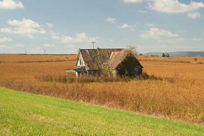 Homesickness Photograph - Abandoned Farmhouse In Field 2 by Douglas Barnett