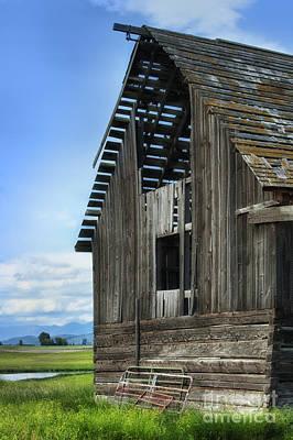 Abandoned Montana Barn Print by Sandra Bronstein