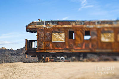 Pioneertown Photograph - Abandoned Train Car by Eddy Joaquim