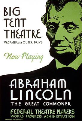 Abe Lincoln Wpa Poster Print by Paul Van Scott