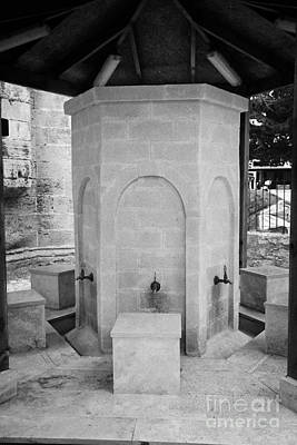 Ablution Fountains Outside The Lala Mustafa Pasha Mosque In Famagust Print by Joe Fox