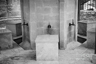 Ablution Fountains Outside The Lala Mustafa Pasha Mosque In Famagusta Turkish Republic Cyprus Print by Joe Fox