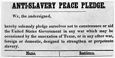 Abolitionist Peace Pledge Print by Granger