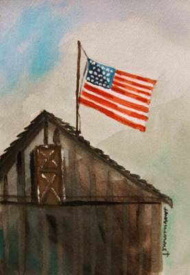 Old Barn Drawing - Above All by John Williams