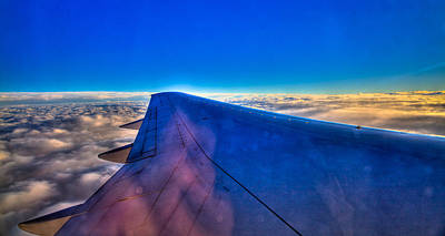 Above The Clouds On A 757 Print by David Patterson