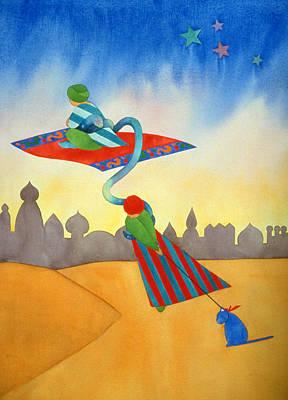 Abracadabra Cat Print by Irene Hipps