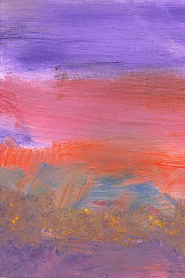 Abstract - Guash - Lovely Meadows 2 Of 2 Print by Mike Savad