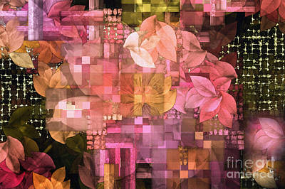 Abstract .. Trellis Print by Elaine Manley