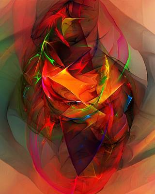 Abstract Digital Art - Abstract 020712 by David Lane