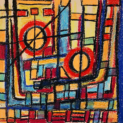 Abstract 53 Print by Sandra Conceicao