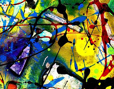 Elastic Mixed Media - Abstract 55 by John  Nolan