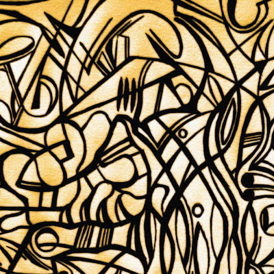 Abstract Photograph - Abstract Art Gold by Sumit Mehndiratta