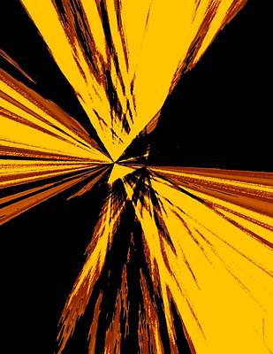 Mixed Digital Art - Abstract Art In Brown And Yellow by Mario Perez