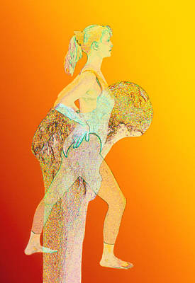 Abstract Artwork Of Osteoporosis Affecting Woman Print by David Gifford