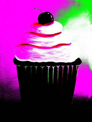 Abstract Cupcakes By Shawna Erback Print by Shawna Erback
