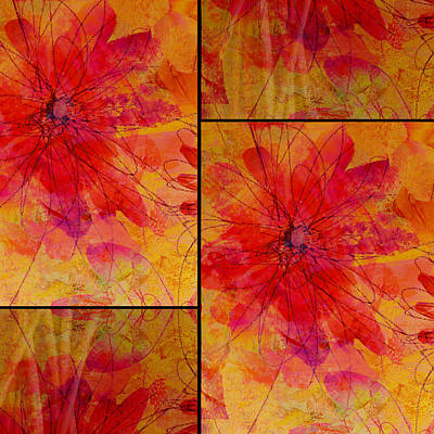 Floral Digital Art Digital Art Digital Art - Abstract Floral Collage by Ann Powell