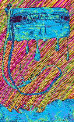 Abstract Handbag Drips Color Print by Pierre Louis