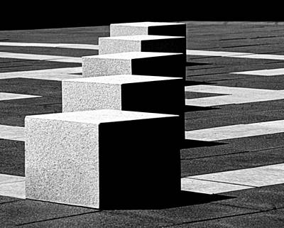Op Art Photograph - Abstract In Black And White by Tam Graff